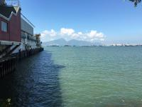 Tuen Mun pier looking across to Lantau