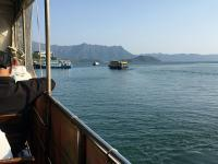 Waiting on the ferry at Ma Liu Shui