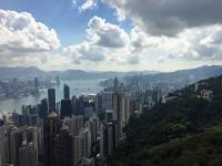 Hong Kong and harbour from the Sky Terrace