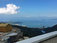 Looking south.  Lamma island power station on left, Cheung Chau ahead