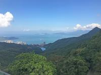 Looking south from Sky Terrace, Pok Fu Lam reservoir in foreground