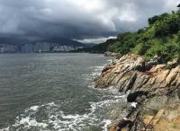 View to Hong Kong island from Pak Kok Tsuen ferry pier
