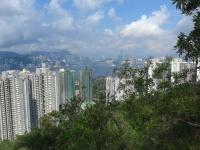 Hong Kong harbour from Black Hill